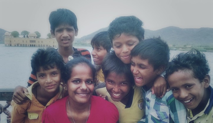 At Jal Mahal With Kids