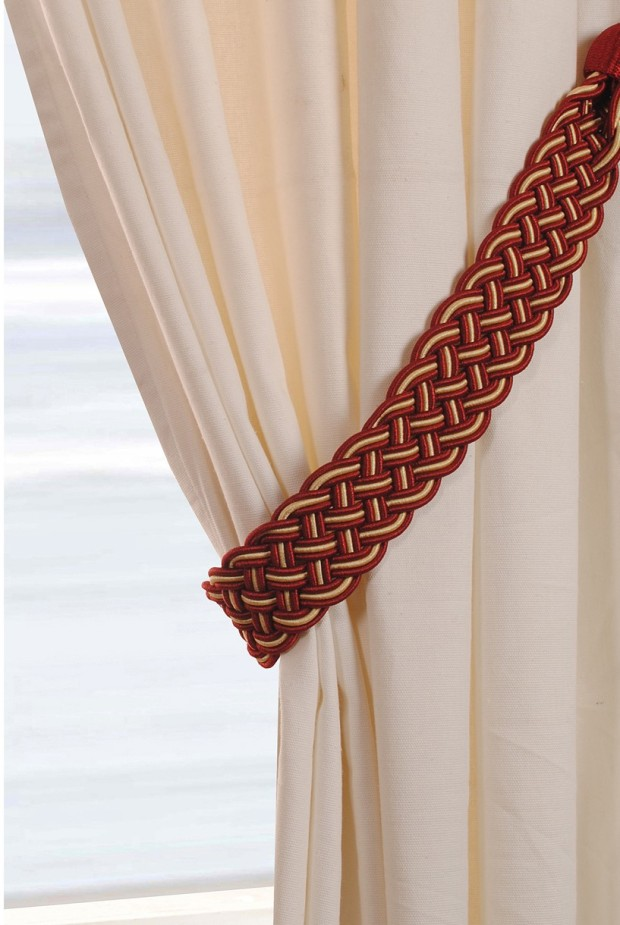 Deco Window Red and gold belt tie back