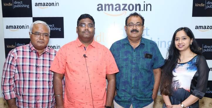 Authors Pa Raghavan, C. Saravanakarthikeyan, Cable Sankar, a noted writer, director and critic and Vaishali Aggarwal, Lead, Amazon Kindle Direct Publishing, India